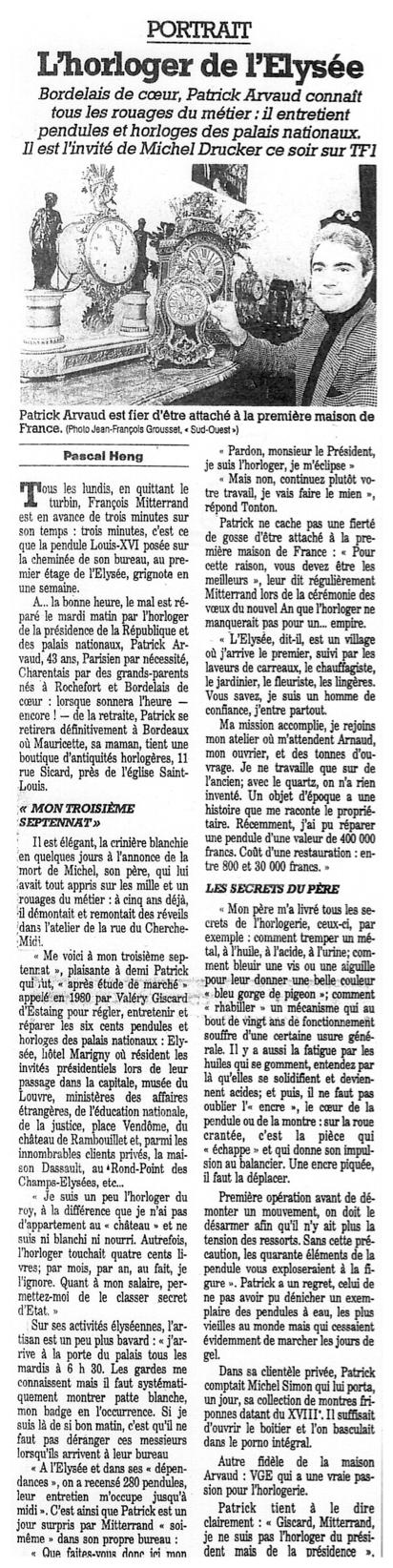 Article Sud-Ouest-Décembre-1992